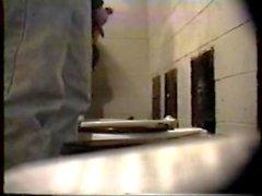 rusningstid på offentlig toalett