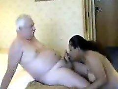 Thick Indian skökan När det en gammal kille