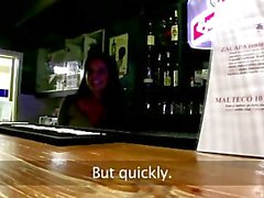 Bargirl нарушает , общественная минет