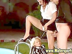 Outdoor Wasser Süße Mädchen nass