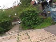 Amateur slut gets plowed on the street