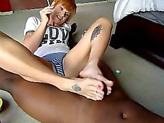 german Prostitutes give an amazing footjob