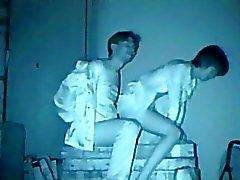 De caméra infrarouge voyeuse banc de parc à sexuels
