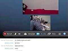 Camsex Skype com a menina asiática