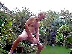 wanking off pre cum and hardon