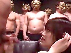 Grupo bonito do menina japonesa suga Bukkake