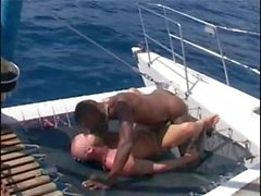 Hot Interracial Boat Sex