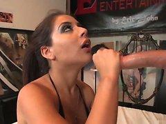 Hot brunette Jynx Maze opens her legs for older studs tool