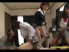 Jav Ídolo escolares BJ cara Sit cogida Un Lucky Guy