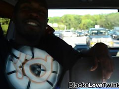 Amateur rides black dick
