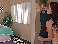 Jerking Michael off while spying Blair rubbing her pussy