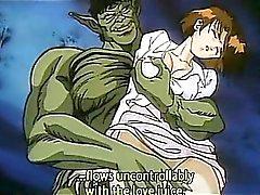 Excitado bonitinho do hentai a princesa twat masturbando cums do duro