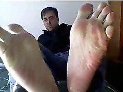 Rak killar fötter på webbkameran som finns # 244