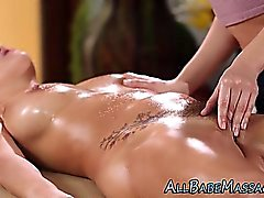 Hot masseuse finger lesbo