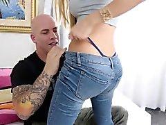 Minúscula Latina adolescente Kat Dior Leva um Pounding áspero