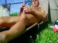 Backyard wanker