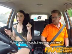 Falso Driving School Cum cobertos buceta após gamer sirigaita chega a acordo sexual