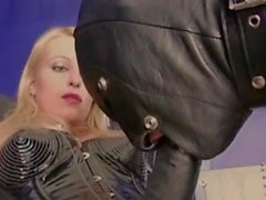 Blonde Mistress using her slave boy
