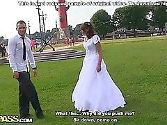 Grova analknull på bröllop orgien