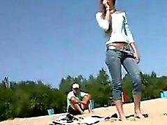 De Rusia niñas desnuda En La Playa