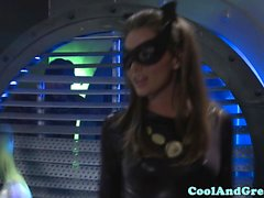 Tori Black banged in threesome by Batman and Robin