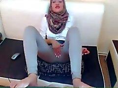 Árabe Vagabunda do a masturbarem Vestidos on Cam