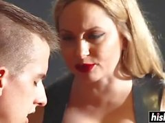 Beautiful Aiden Starr enjoys some cock torture