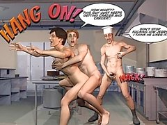 GRADEVOLI GAY CLIENTI Cartoon 3D Fumetto Anime La storia