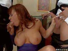 Big titted milfy Cock sucker Devon Michaels can't get enough