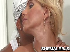 Adriela Vendromine Busty Shemale Throated By BBC