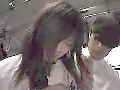 Asian cuties get groped and show tit as well as some nice u