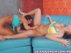 Busty Babe Jelena Jensen Licks Sandee's Pussy!