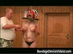 Bigtits boobs Red Wig super bdsm scene part4