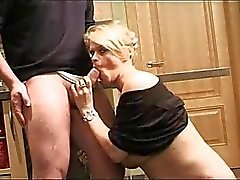 Skanky Blonde MILF And Two Dudes
