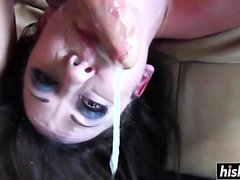 Jennifer White enjoys giving a blowjob