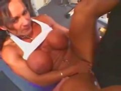 Busty Brunette Bodybuilder Banged