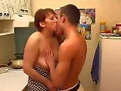 ej mor son kitchen creampie
