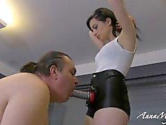 Amante anna com seu escravo gordo