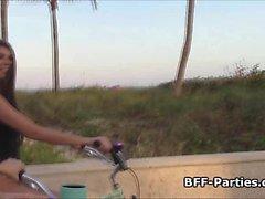 BFFs Strand Biker Vierer