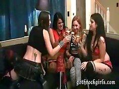 Lesbian Goth Group Fuck