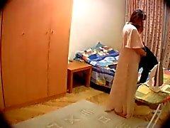 Câmera escondida do quarto de esposa