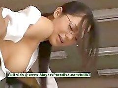 Sora Aoi yaramaz Çin sekreter mola anda becerdin almak sahiptir