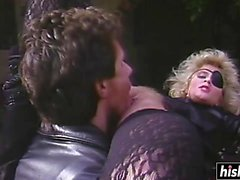 Blonde slut gets fucked by a biker
