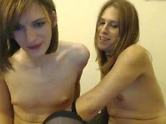 Teen trannies play on webcam