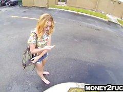 Naive teen fucks stranger for money secretly recorded