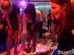 Amateur party slut sucks
