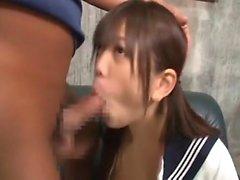 Amateur asiática Colegio adolescente da mamada