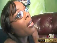 Ebony get fucked by several white dudes 25