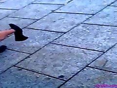 Искренний автобусной остановки Shoeplay Feet трек Nylon два Pantyhose