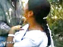 Intialaisen Desi kotirouva vittu kova kaupungista Park